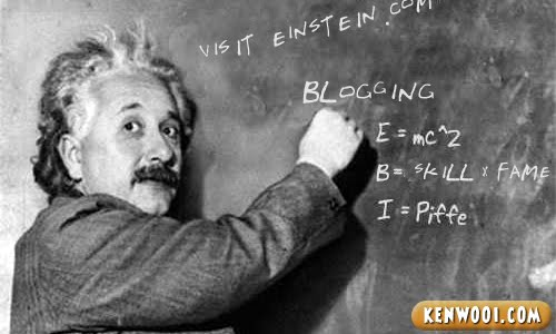 einstein blogging